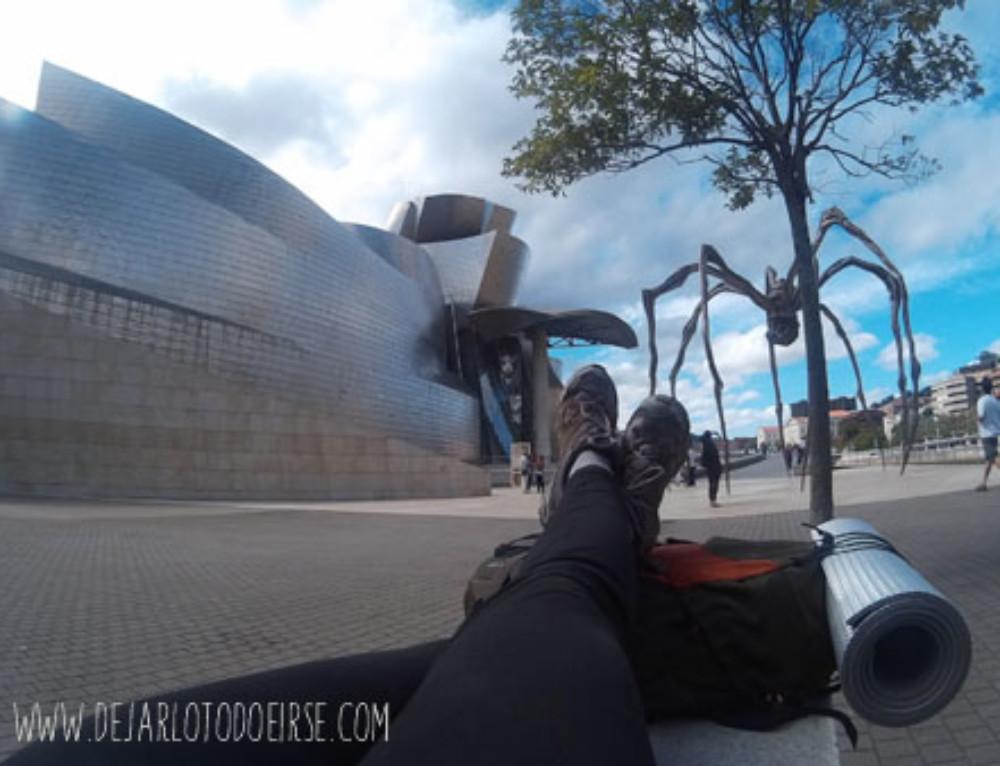 Fin de etapa al llegar a Bilbao
