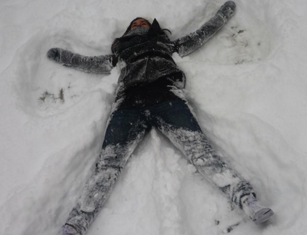 Pisar la nieve por primera vez